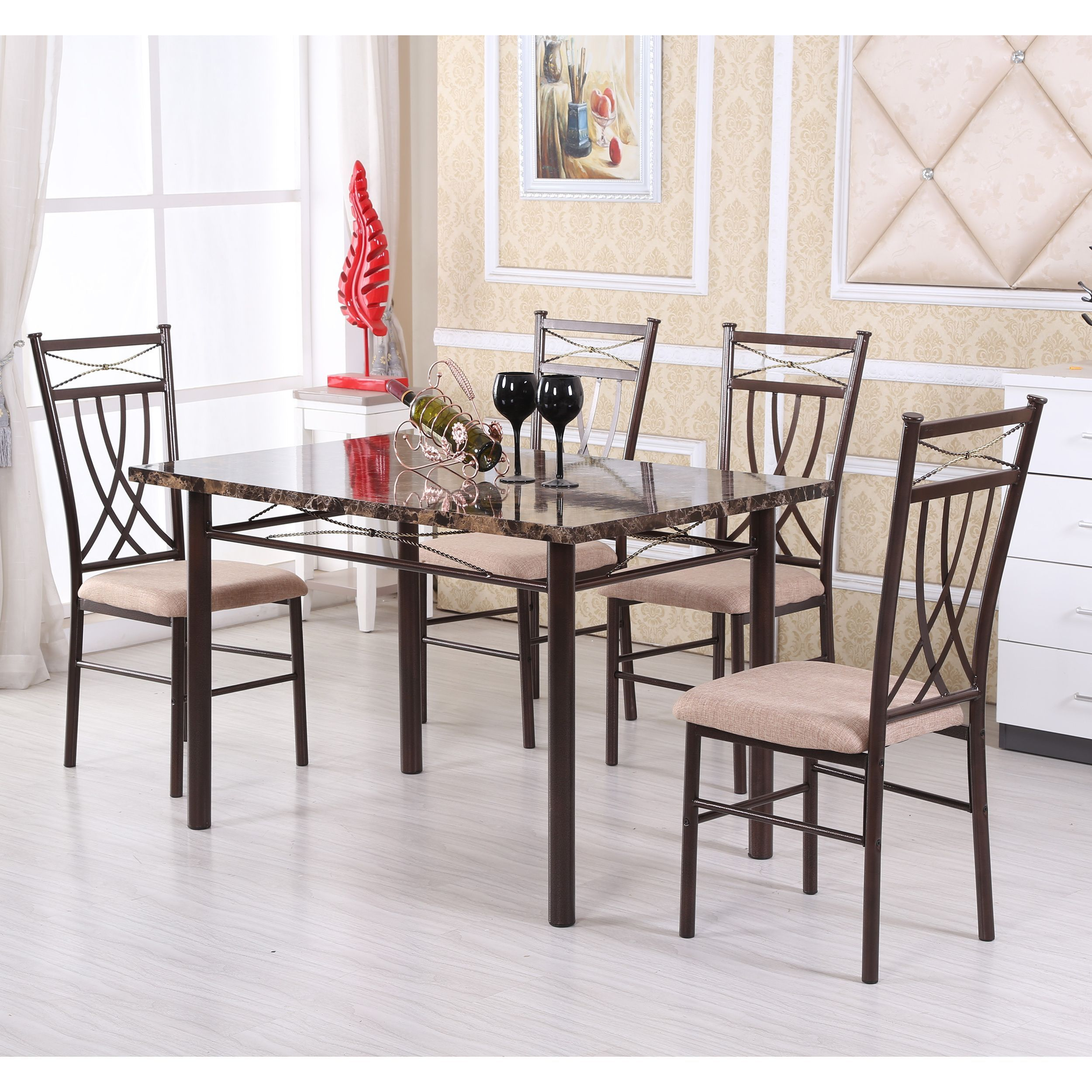 Update Your Dining Room With This Classic Five Piece Dining Set For Most Recently Released Kieffer 5 Piece Dining Sets (View 5 of 20)