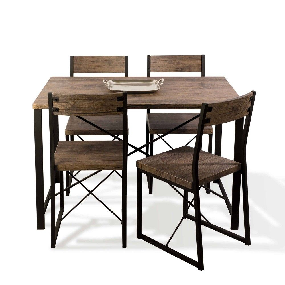 Urban Blend Dining Set Brown/black – Urb Space In 2019 | Products In Latest Telauges 5 Piece Dining Sets (View 8 of 20)