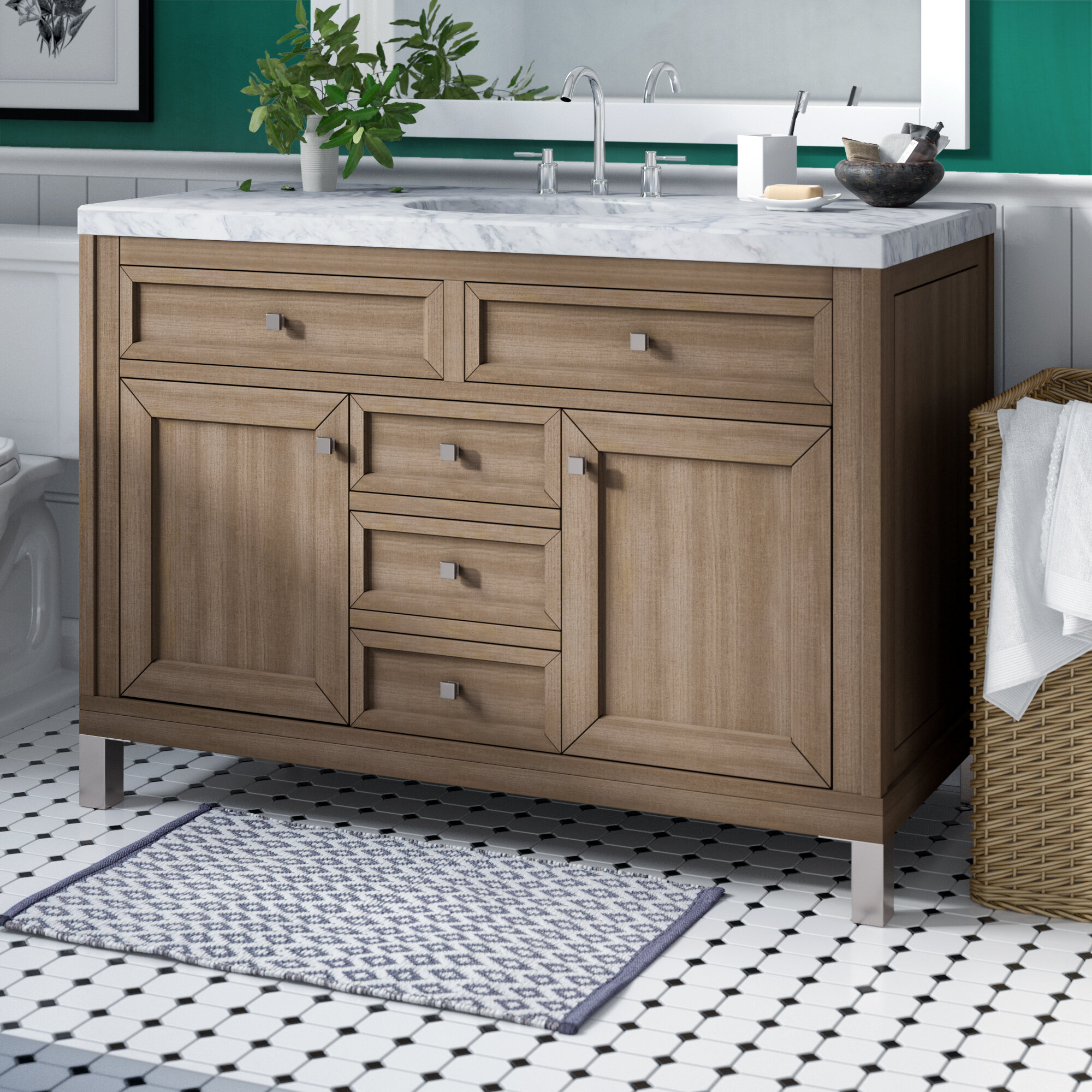"Valladares 48"" Single Bathroom Vanity Set Regarding Latest Valladares 3 Piece Pub Table Sets (Photo 13 of 20)"