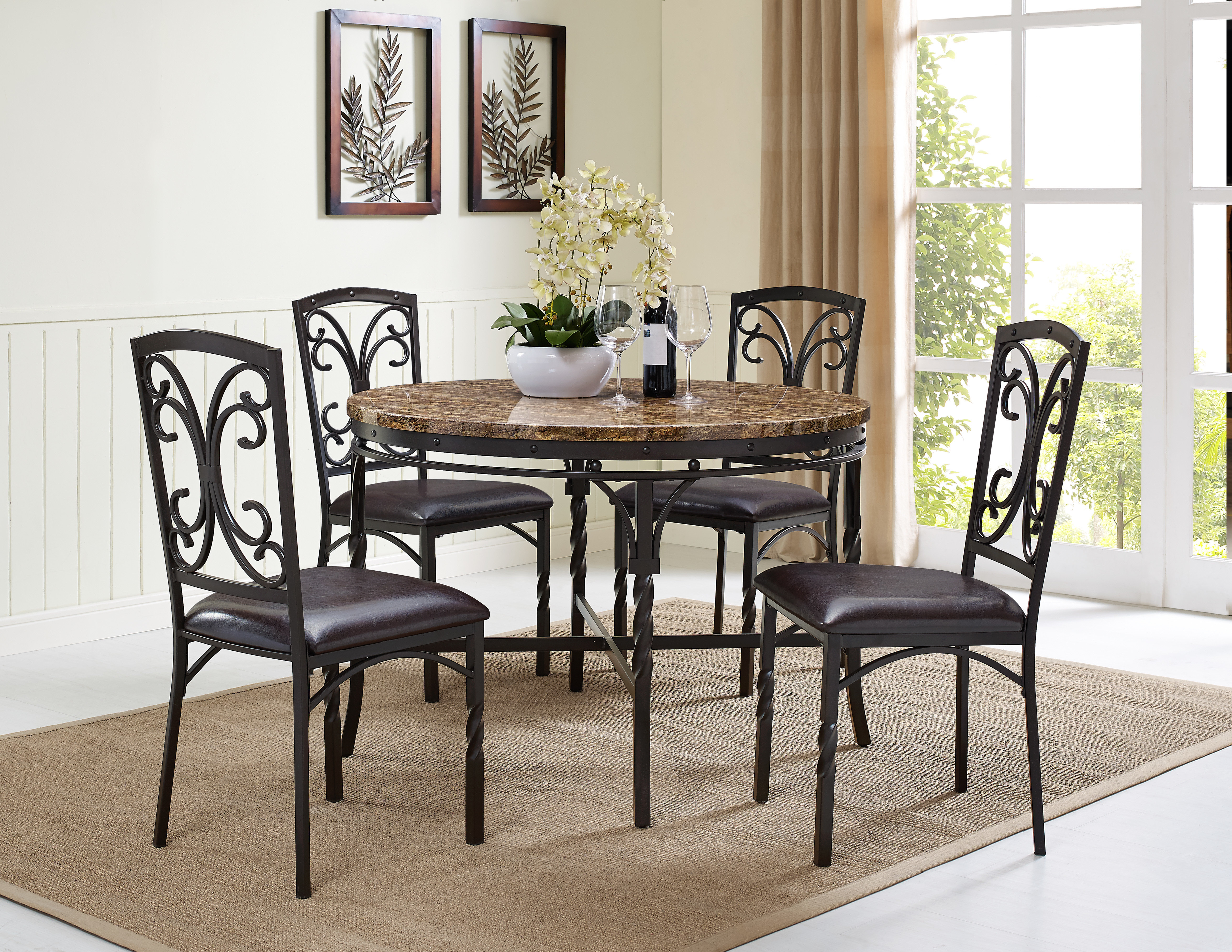 Vaughan 5 Piece Dining Table Set Pertaining To Latest Queener 5 Piece Dining Sets (Photo 6 of 20)