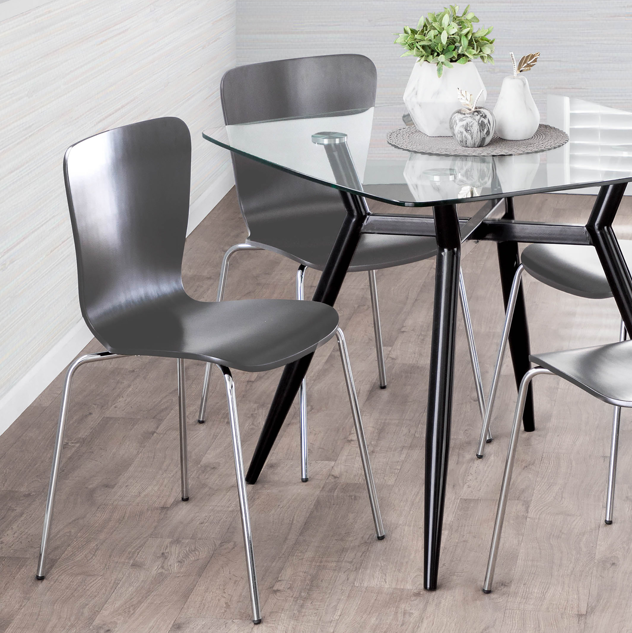 Vicente Bentwood Dining Chair With Most Recent Osterman 6 Piece Extendable Dining Sets (Set Of 6) (View 7 of 20)