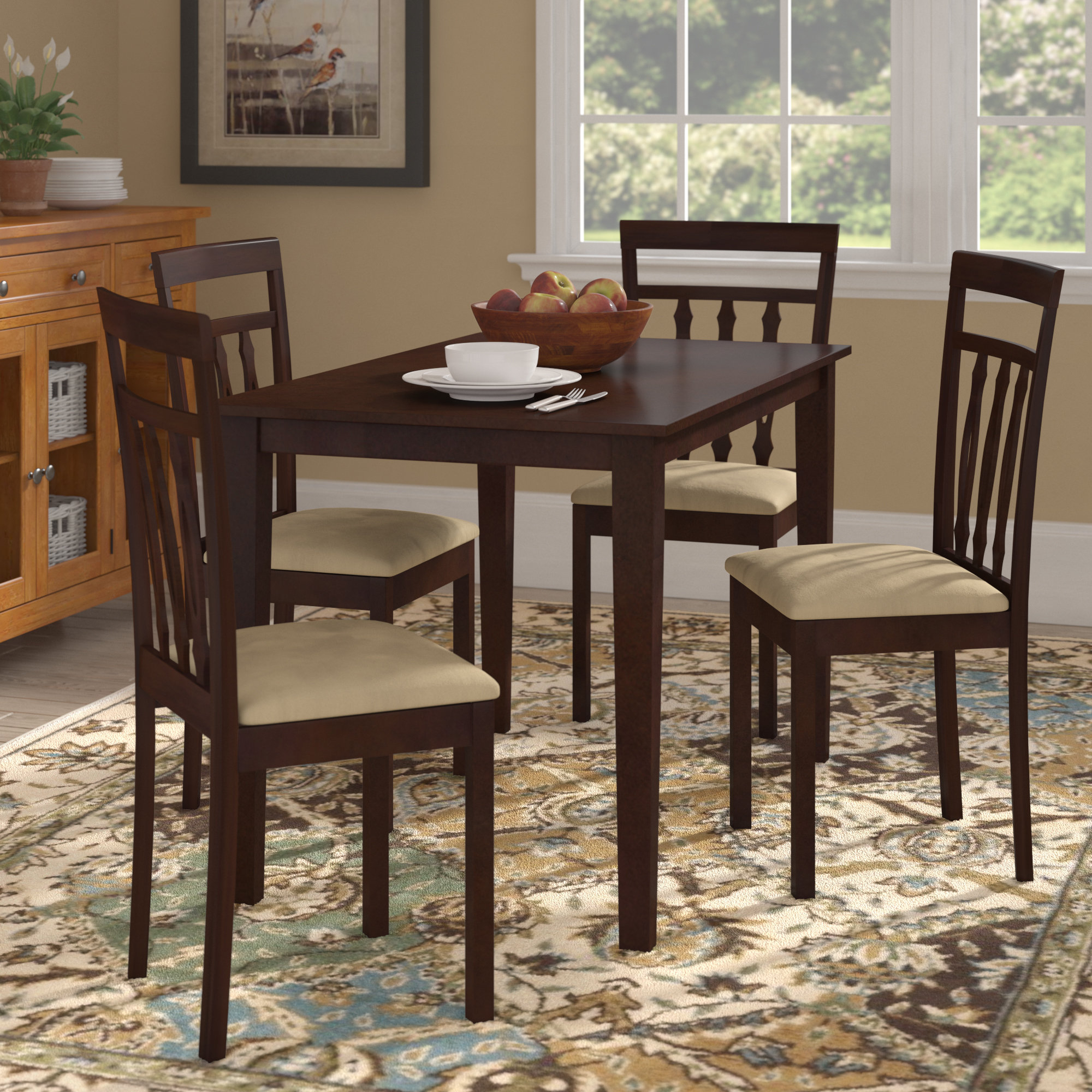 Vivien 5 Piece Dining Set For Most Popular Baillie 3 Piece Dining Sets (View 17 of 20)