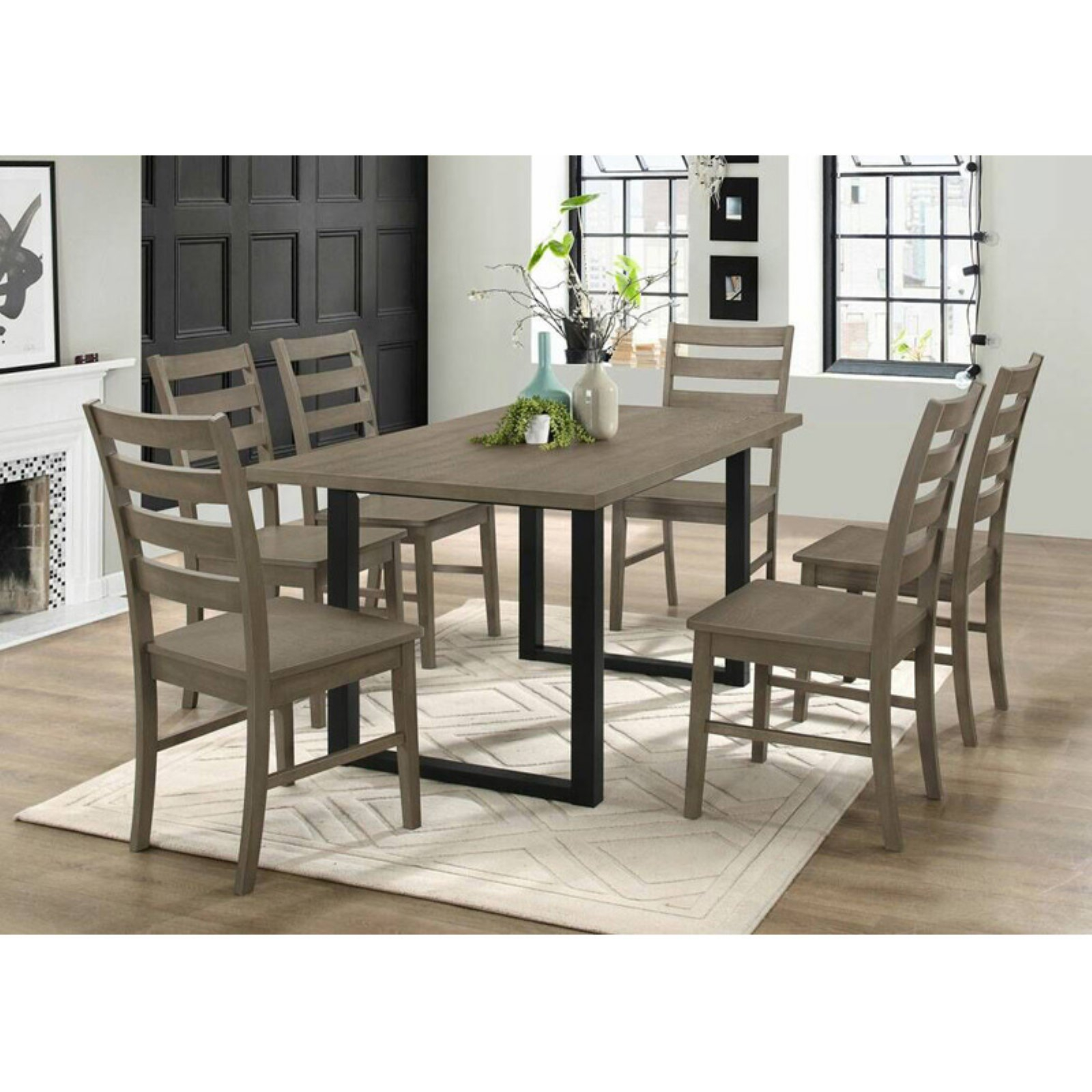 Walker Edison Modern 7 Piece Dining Table Set Grey In 2019 For 2017 Kieffer 5 Piece Dining Sets (View 8 of 20)