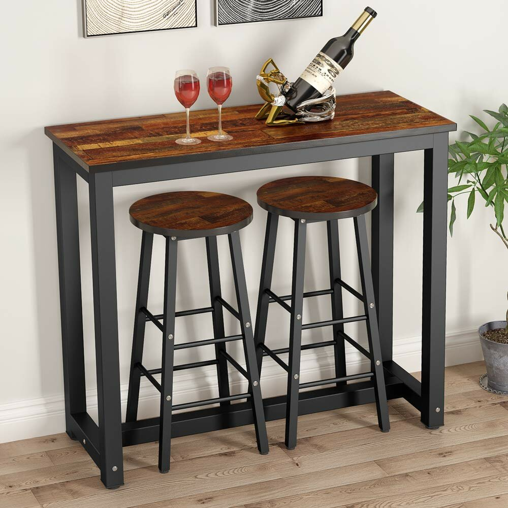 Wallflower 3 Piece Dining Set With Most Up To Date Anette 3 Piece Counter Height Dining Sets (View 4 of 20)