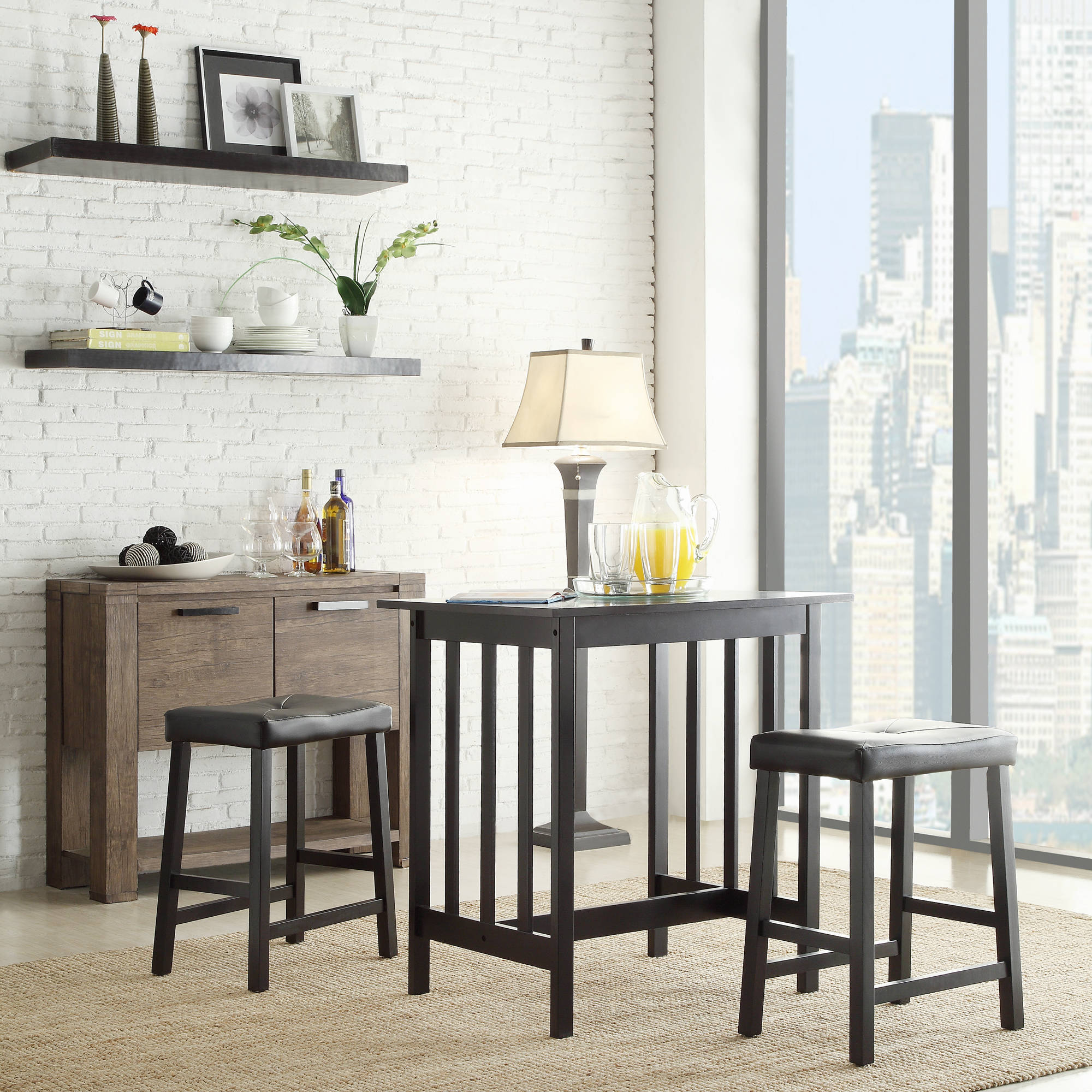 Weston Home Scottsdale 3 Piece Dining Set, Multiple Colors With Regard To Most Recently Released 3 Piece Breakfast Dining Sets (View 16 of 20)