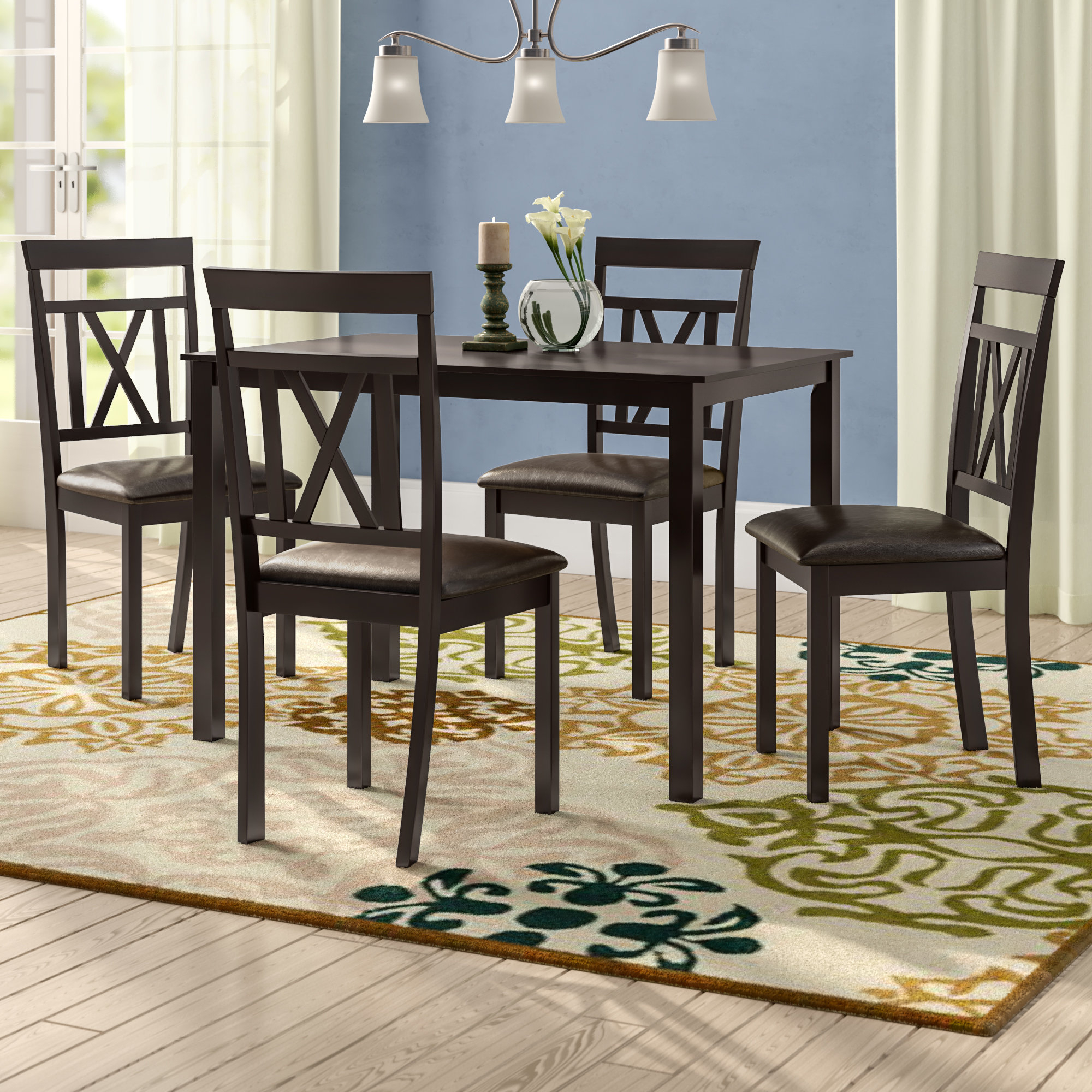 Whitbey Modern And Contemporary 5 Piece Breakfast Nook Dining Set Within Recent 5 Piece Breakfast Nook Dining Sets (View 4 of 20)