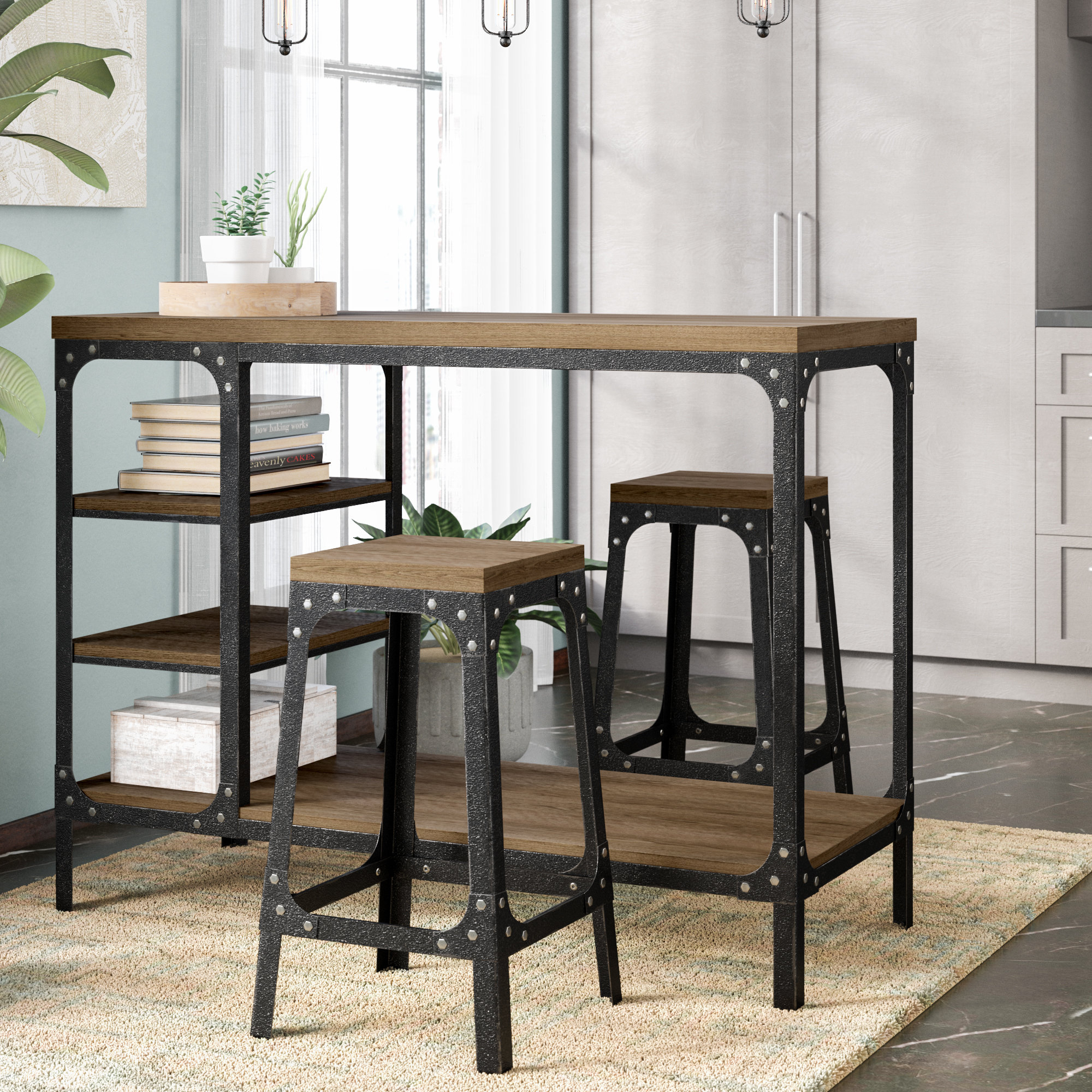 Williston Forge Terence 3 Piece Breakfast Nook Dining Set With Regard To Most Recent Wallflower 3 Piece Dining Sets (Image 19 of 20)