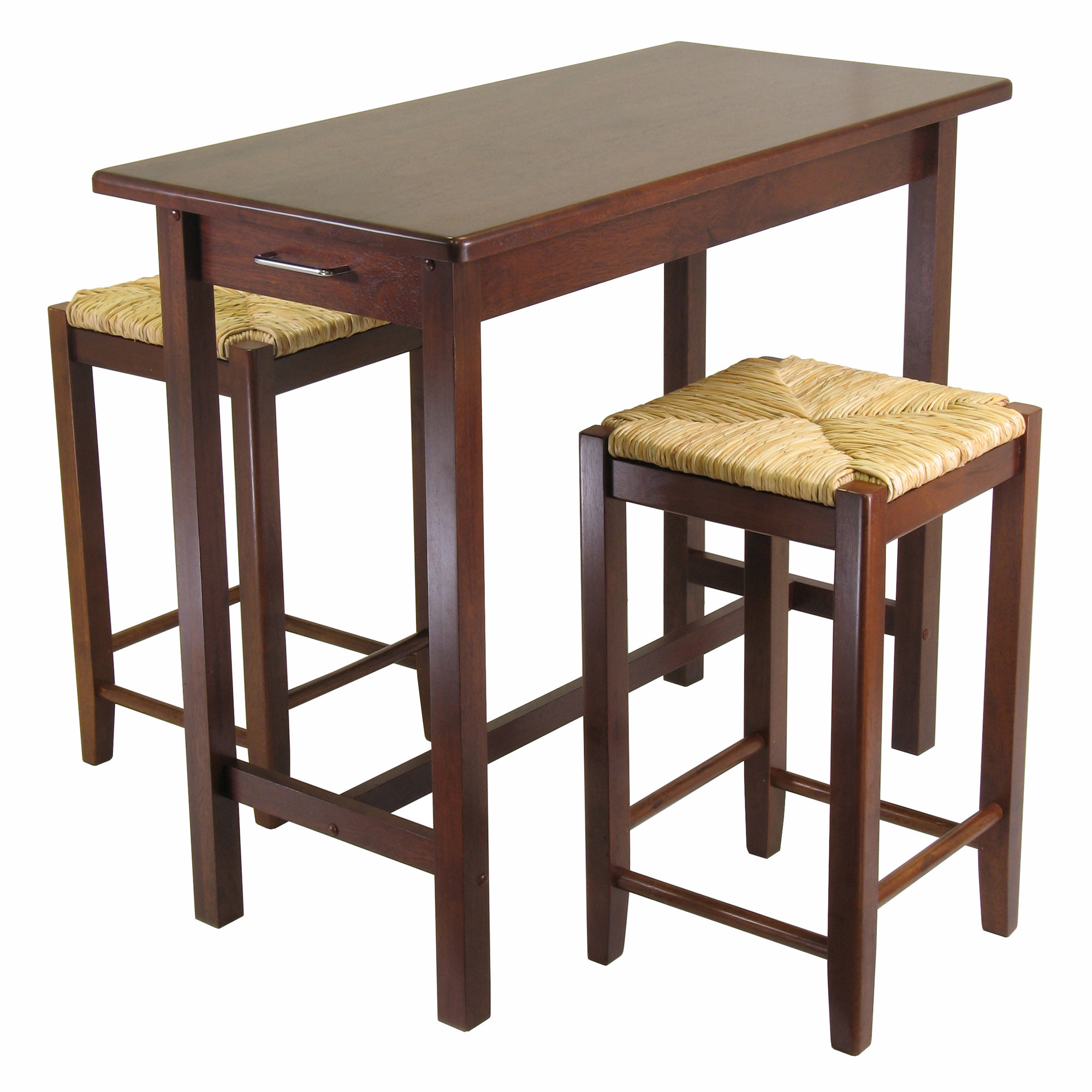 Winsome 3 Piece Counter Height Dining Set In Most Popular Bettencourt 3 Piece Counter Height Solid Wood Dining Sets (View 10 of 20)