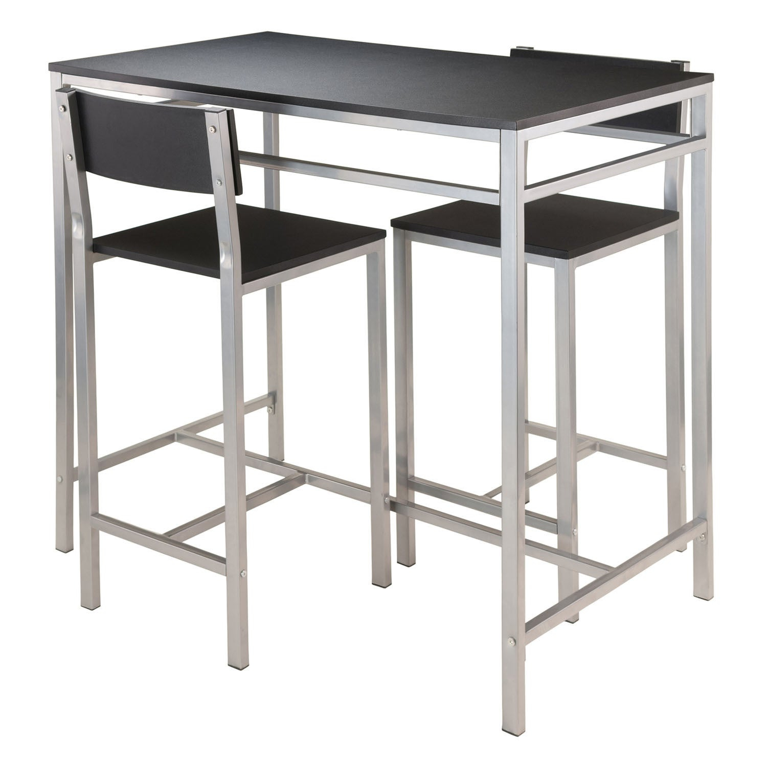 Winsome Hanley 3 Piece Pub Height Dining Table Set With 2 Stools Inside Most Up To Date Winsome 3 Piece Counter Height Dining Sets (Image 11 of 20)