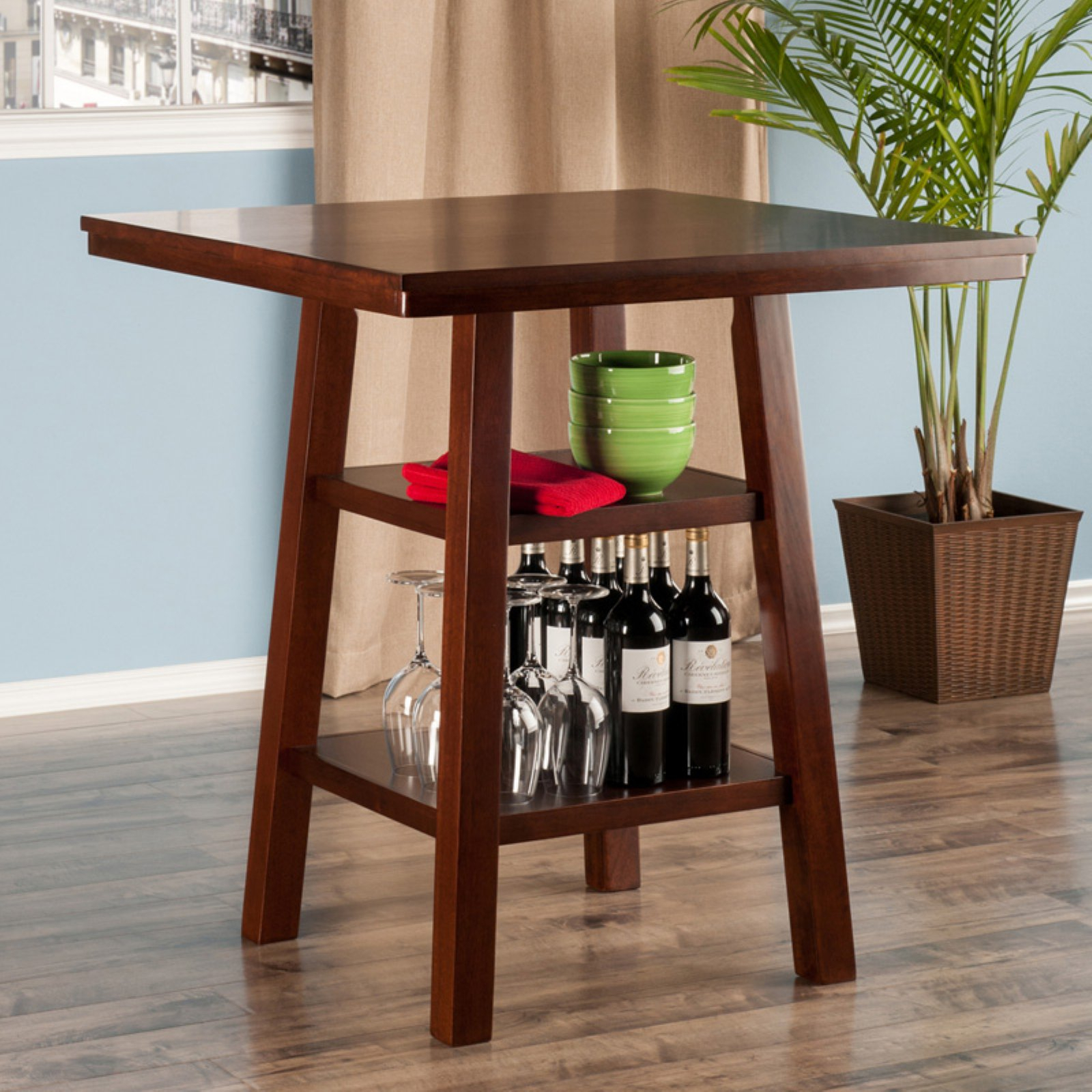 Winsome Orlando Counter Height Dining Table For Most Recently Released Winsome 3 Piece Counter Height Dining Sets (View 12 of 20)