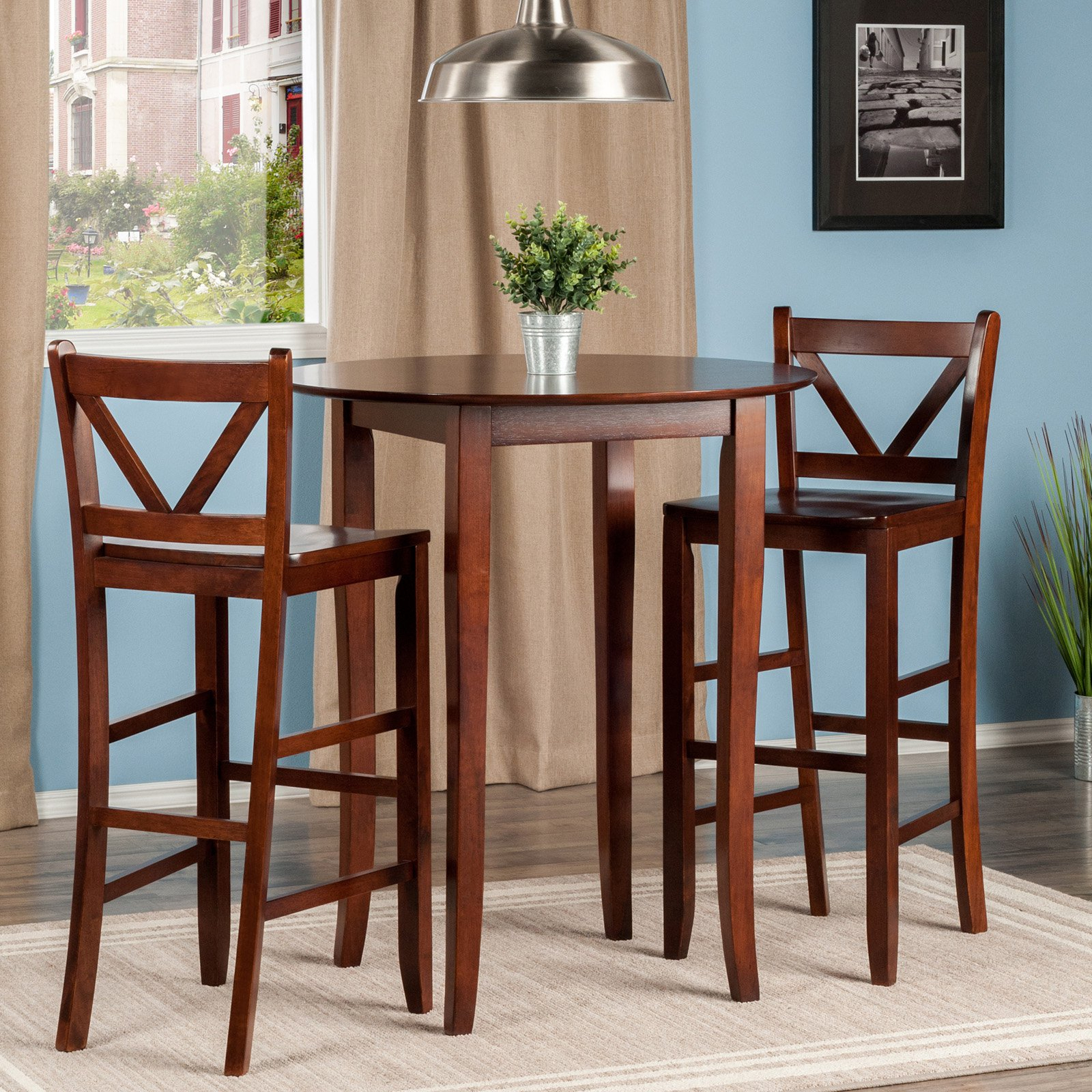 Winsome Trading Fiona 3 Piece Counter Height Round Dining Table Set Within Recent Winsome 3 Piece Counter Height Dining Sets (Photo 6 of 20)