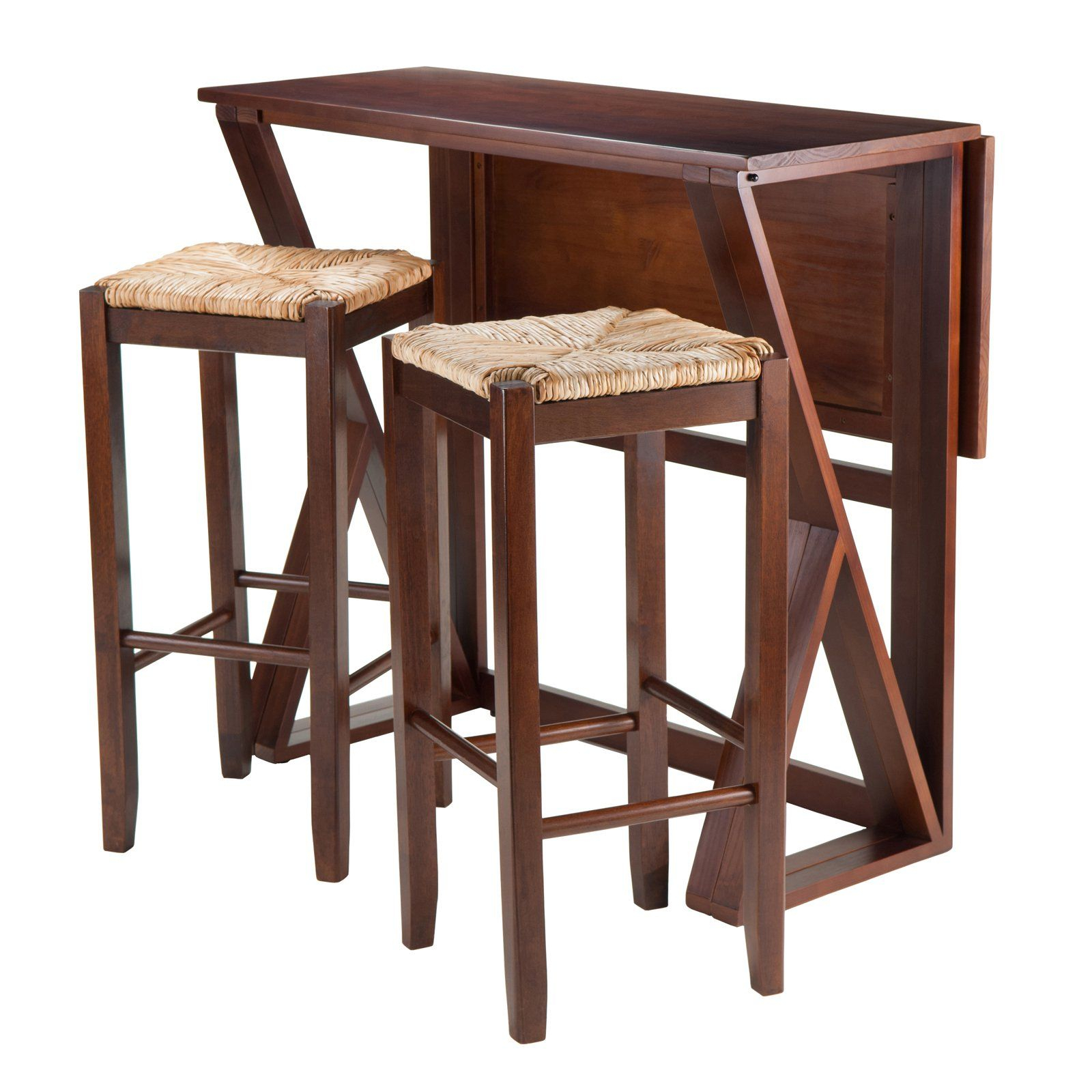 Winsome Trading Harrington 3 Piece Counter Height Dining Table Set Throughout Recent Crownover 3 Piece Bar Table Sets (Image 19 of 20)