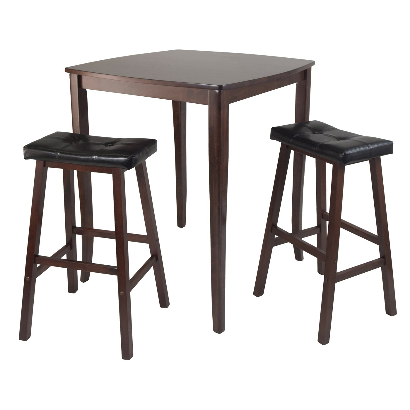 Winsome Wood Inglewood 3 Piece High Pub Table Dining Set In Best And Newest Winsome 3 Piece Counter Height Dining Sets (Photo 11 of 20)