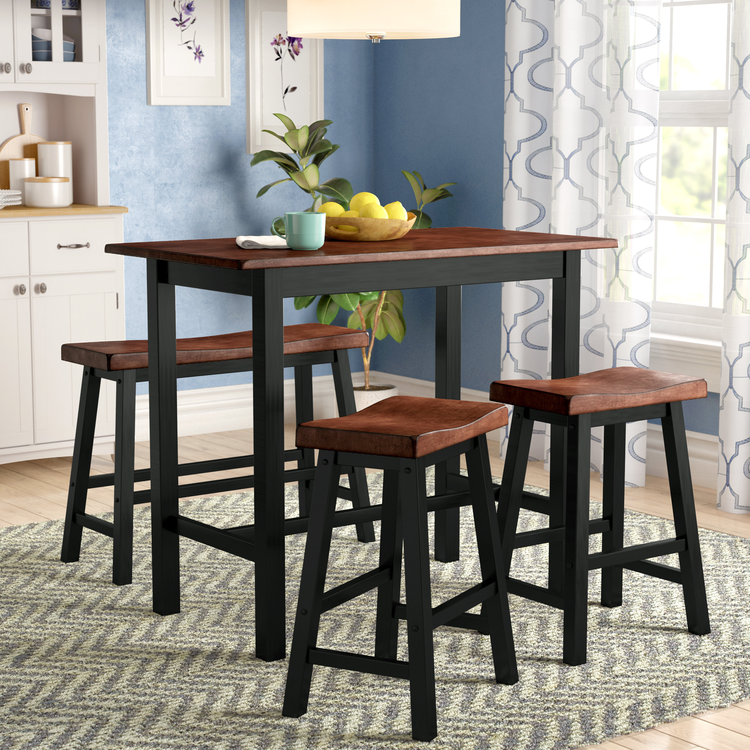 Winsted 4 Piece Counter Height Dining Set With Best And Newest Berrios 3 Piece Counter Height Dining Sets (View 8 of 20)