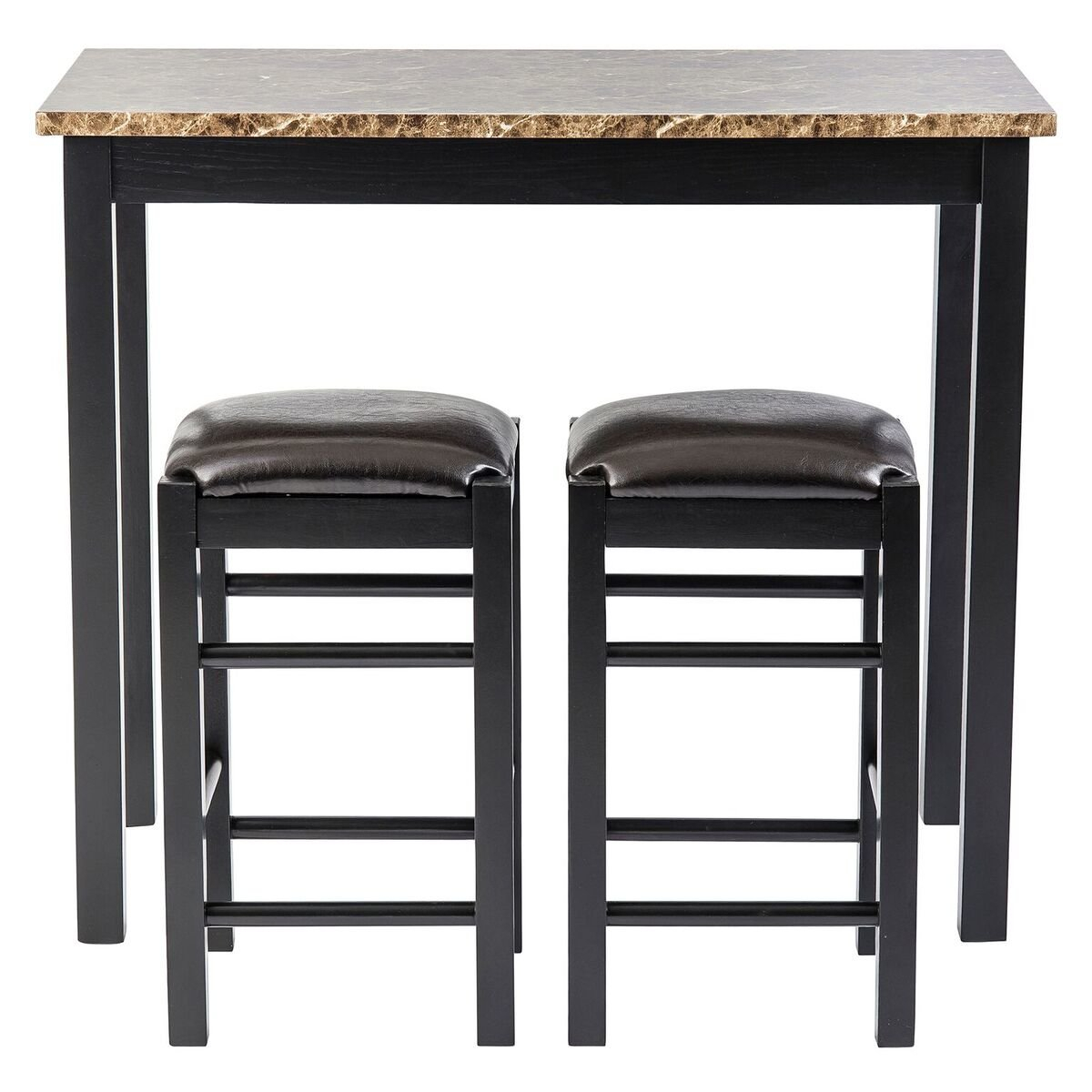 Winston Porter Moorehead 3 Piece Counter Height Dining Set For Most Recent Kernville 3 Piece Counter Height Dining Sets (Image 18 of 20)