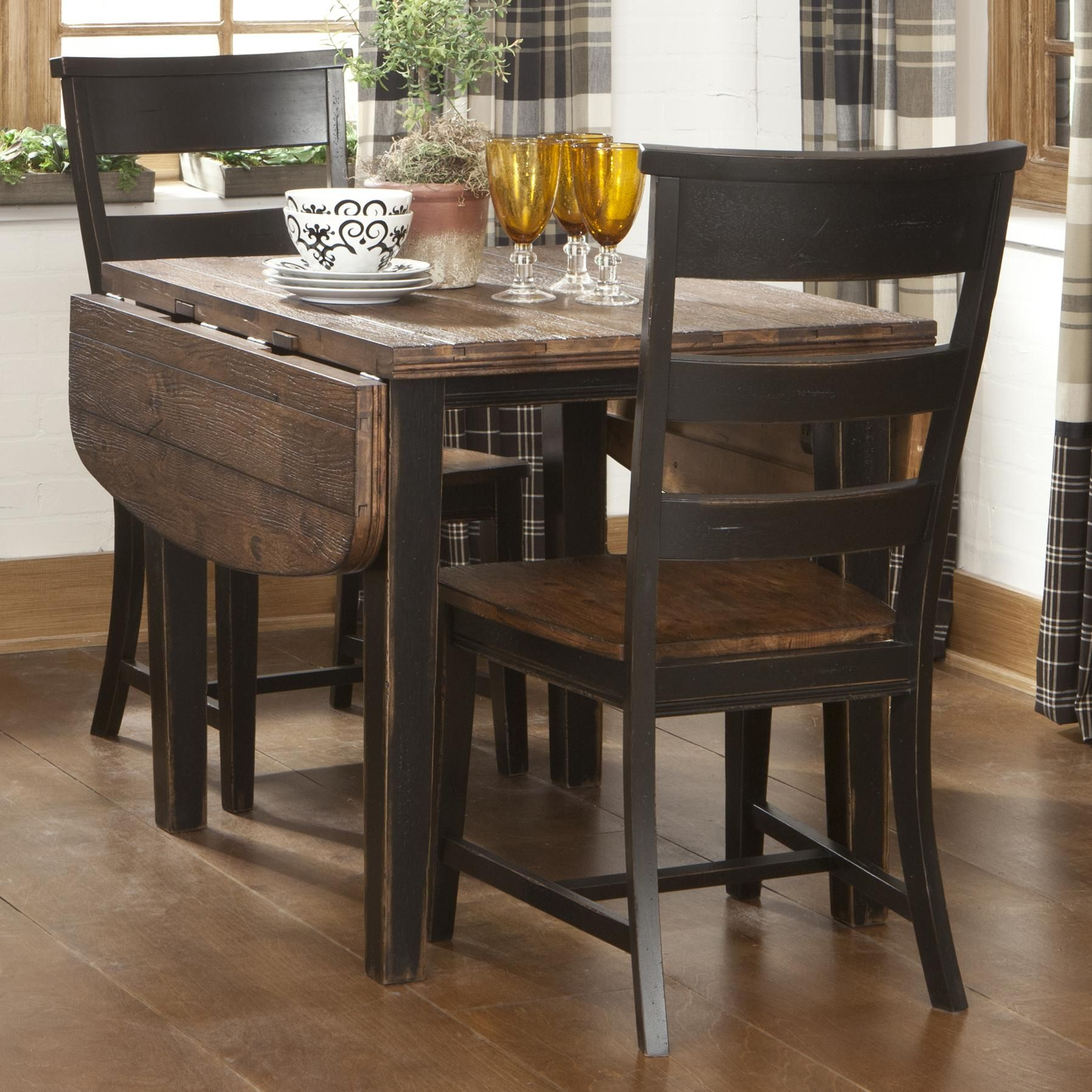 Would Be Adorable For A Game Table / Home Work Stationwinchester With Regard To 2018 Goodman 5 Piece Solid Wood Dining Sets (Set Of 5) (Image 20 of 20)