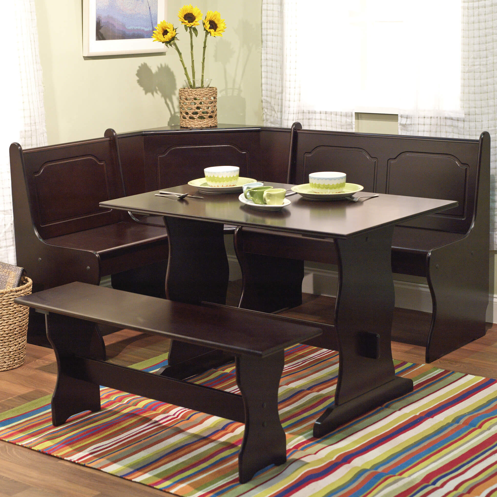 Wow! 23 Space Saving Corner Breakfast Nook Furniture Sets (2019) In Most Popular 5 Piece Breakfast Nook Dining Sets (View 17 of 20)
