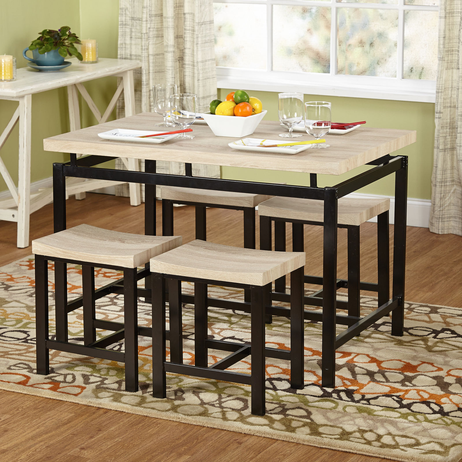Wrought Studio Bryson 5 Piece Dining Set For Most Recent Bryson 5 Piece Dining Sets (Image 20 of 20)