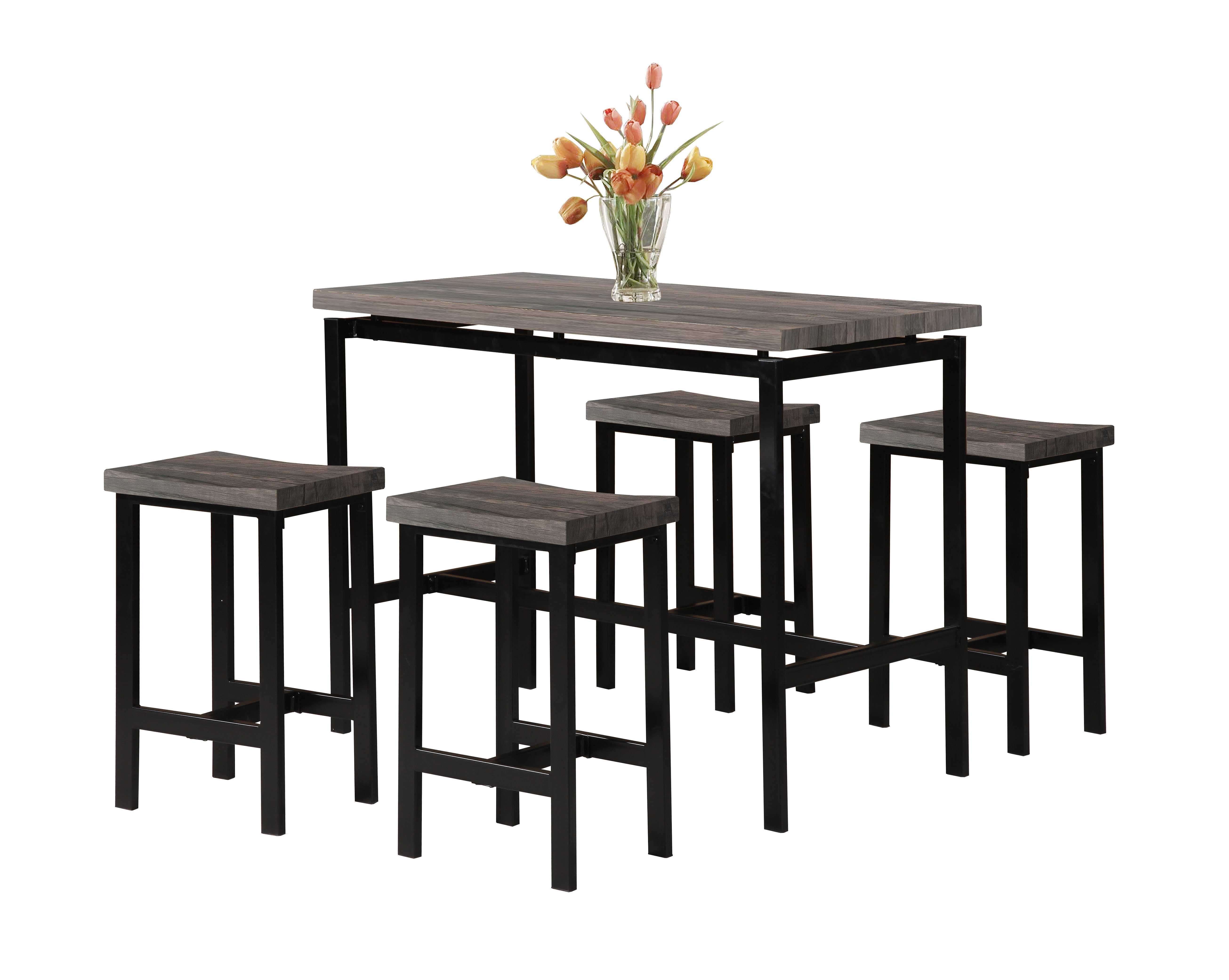 Wrought Studio Denzel 5 Piece Counter Height Breakfast Nook Dining With Most Current Mysliwiec 5 Piece Counter Height Breakfast Nook Dining Sets (View 2 of 20)