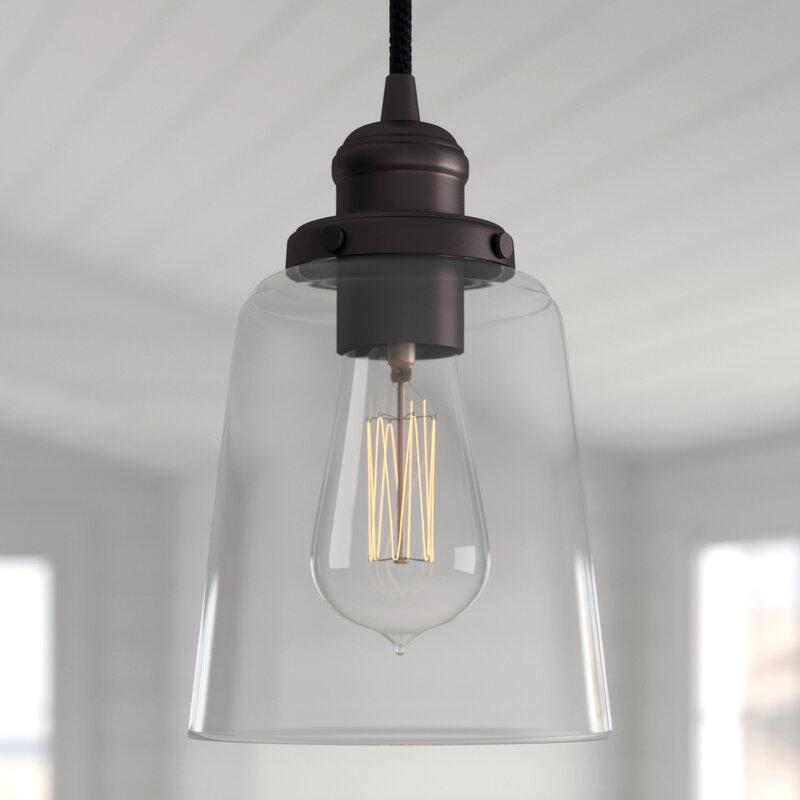 1 Light Cone Pendant Within Wentzville 1 Light Single Bell Pendants (Image 1 of 25)