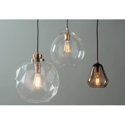 1 Light Geometric Globe Pendant | Aesthetica | Globe Lights With 1 Light Geometric Globe Pendants (Image 1 of 25)