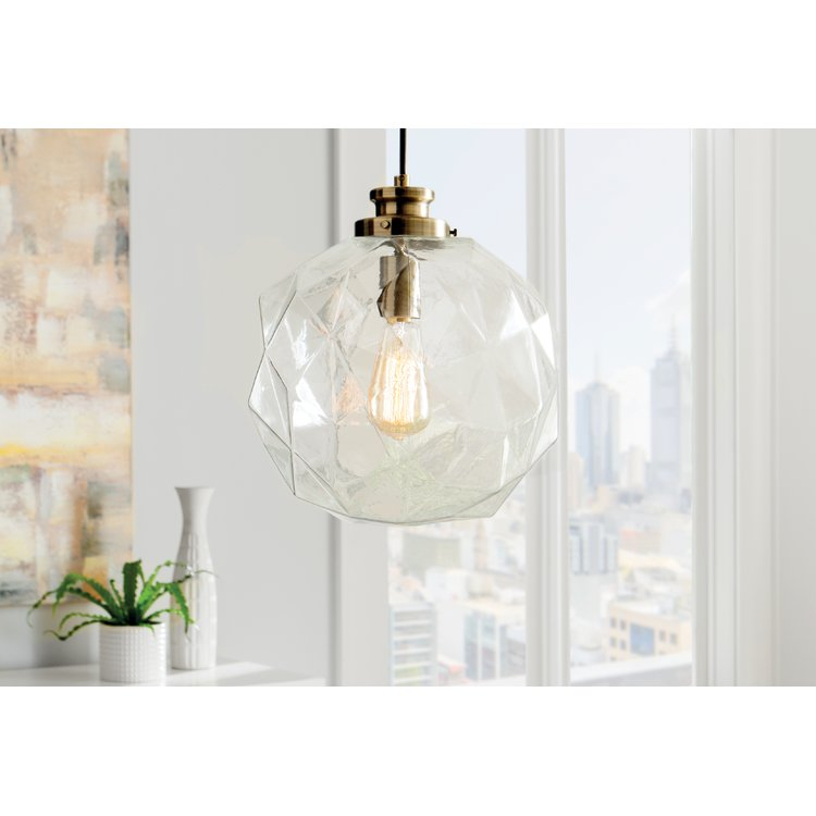 1 Light Geometric Globe Pendant | Joss & Main With Regard To 1 Light Geometric Globe Pendants (Image 2 of 25)