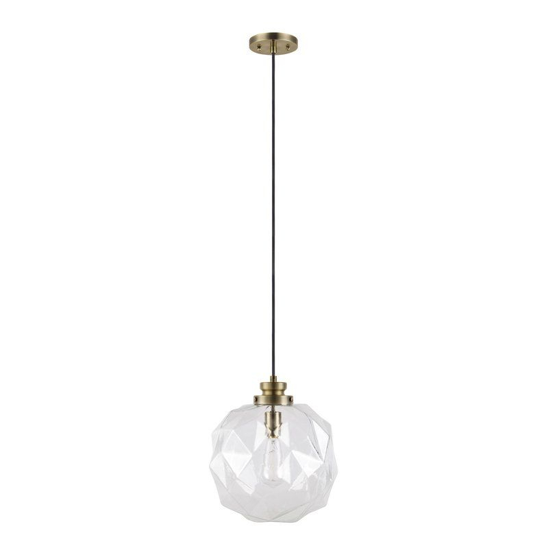 1 Light Geometric Globe Pendant | Kitchen Dreams | Glass Intended For 1 Light Geometric Globe Pendants (Image 3 of 25)