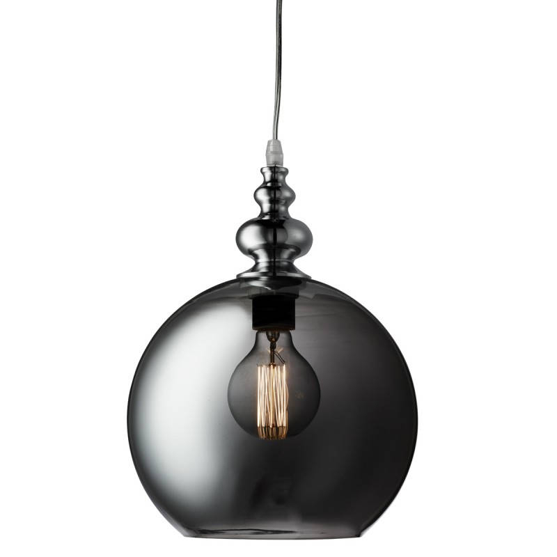 1 Light Globe Ceiling Pendant Chrome, Smokey, Glass In 1 Light Globe Pendants (Image 2 of 25)