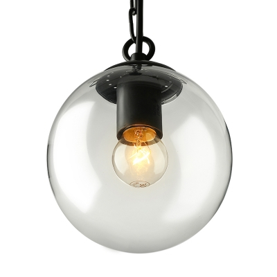 1 Light Globe Pendant Light Modernism Industrial Clear Glass Indoor With 1 Light Globe Pendants (Image 3 of 25)