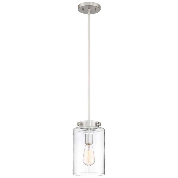 1 Light Gold Clear Glass Pendant With Regard To Fennia 1 Light Single Cylinder Pendants (View 23 of 25)