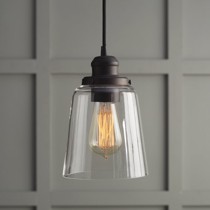 1 Light Single Bell Pendant Regarding Houon 1 Light Cone Bell Pendants (Image 1 of 25)