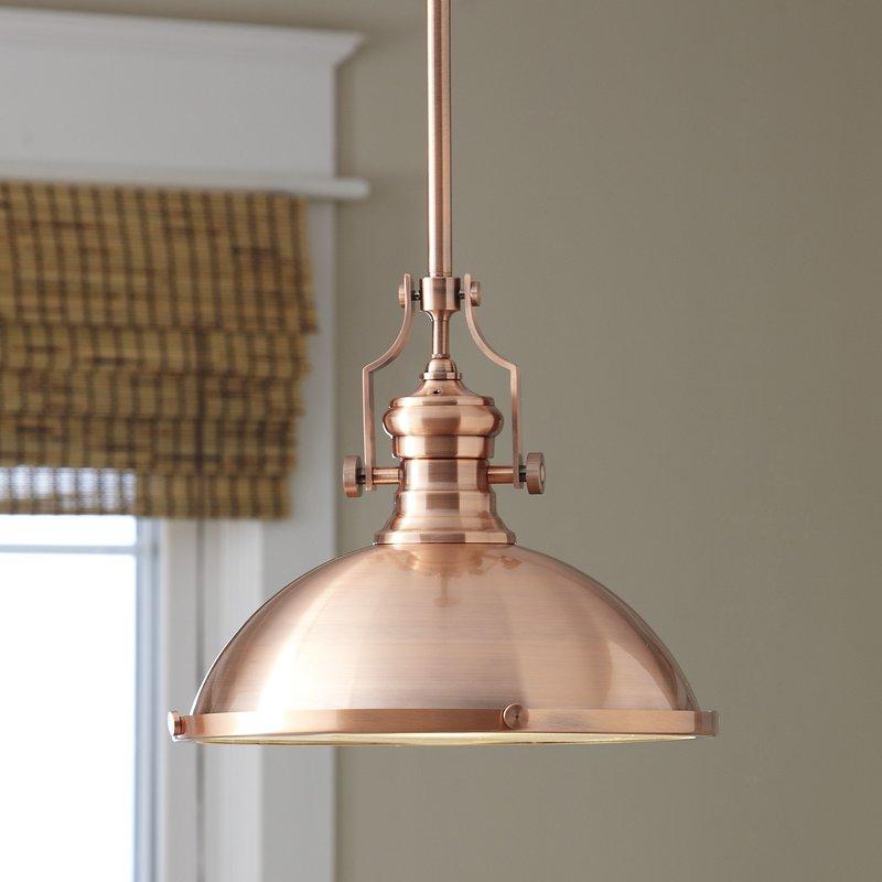 1 Light Single Dome Pendant Pertaining To Freeda 1 Light Single Dome Pendants (View 25 of 25)