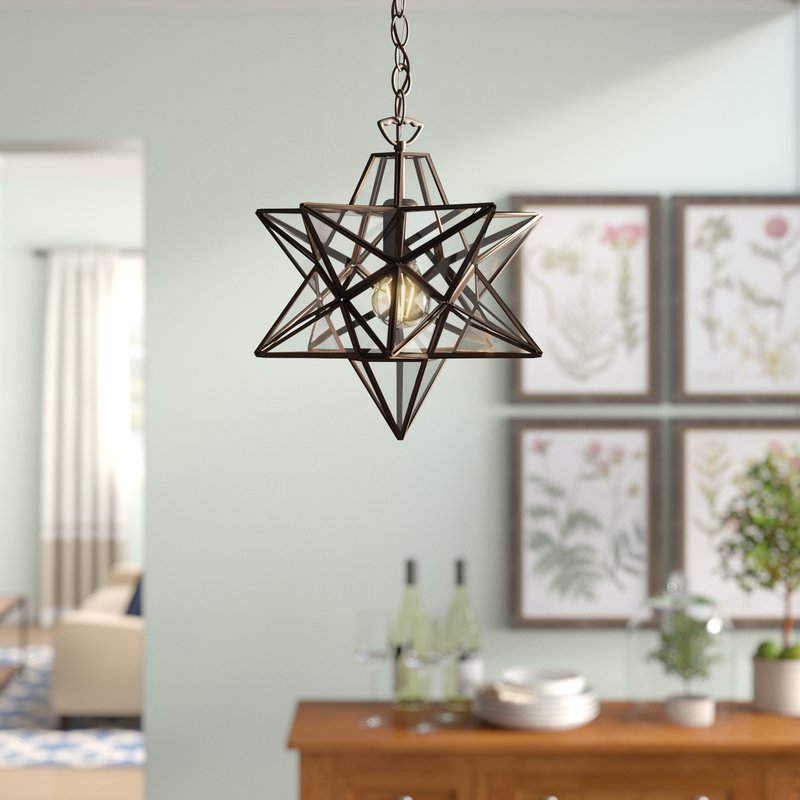 1 Light Single Star Pendant For 1 Light Single Star Pendants (Image 2 of 25)