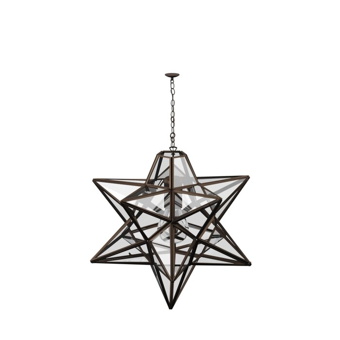 1 Light Single Star Pendant Inside 1 Light Single Star Pendants (Image 7 of 25)