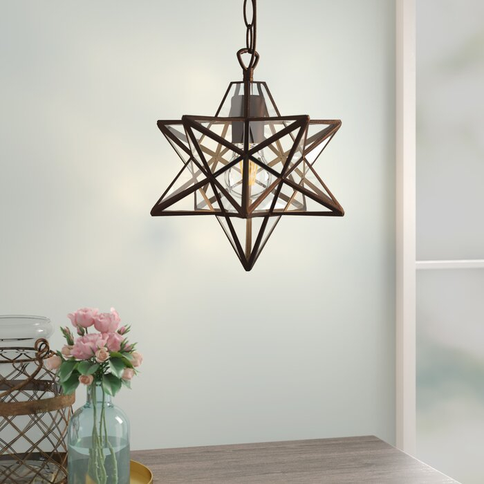 1 Light Single Star Pendant Regarding Poynter 1 Light Single Cylinder Pendants (View 10 of 25)