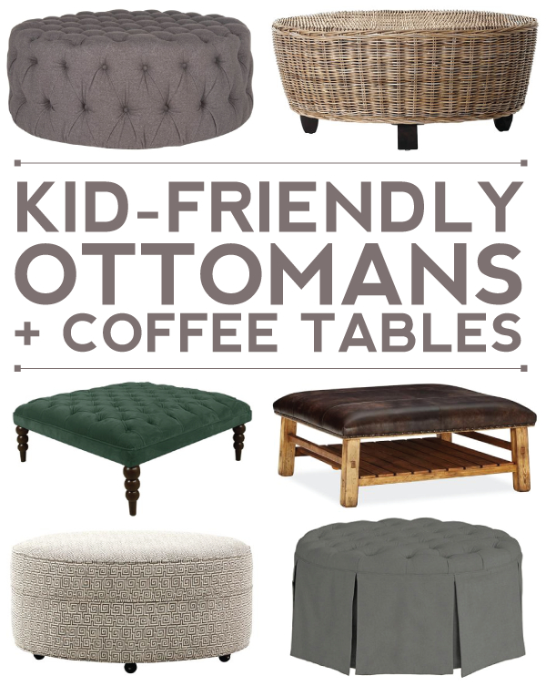 10+ Kid Friendly Ottoman + Coffee Table Options For Your Regarding Madison Park Susie Coffee Tables 2 Color Option (View 12 of 25)