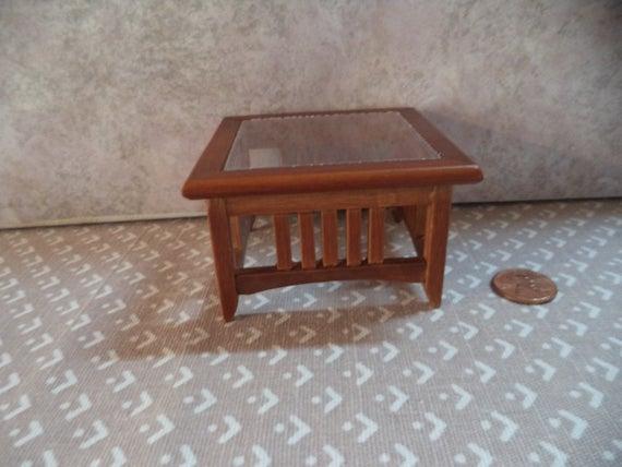 1:12 Scale Dollhouse Miniature Walnut Color Mission Coffee Table With Mission Walnut Coffee Tables (View 7 of 25)