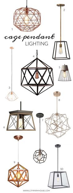 17 Mejores Imágenes De Lamparas En 2017 | Moderno With Regard To Akash Industrial Vintage 1 Light Geometric Pendants (Image 1 of 25)