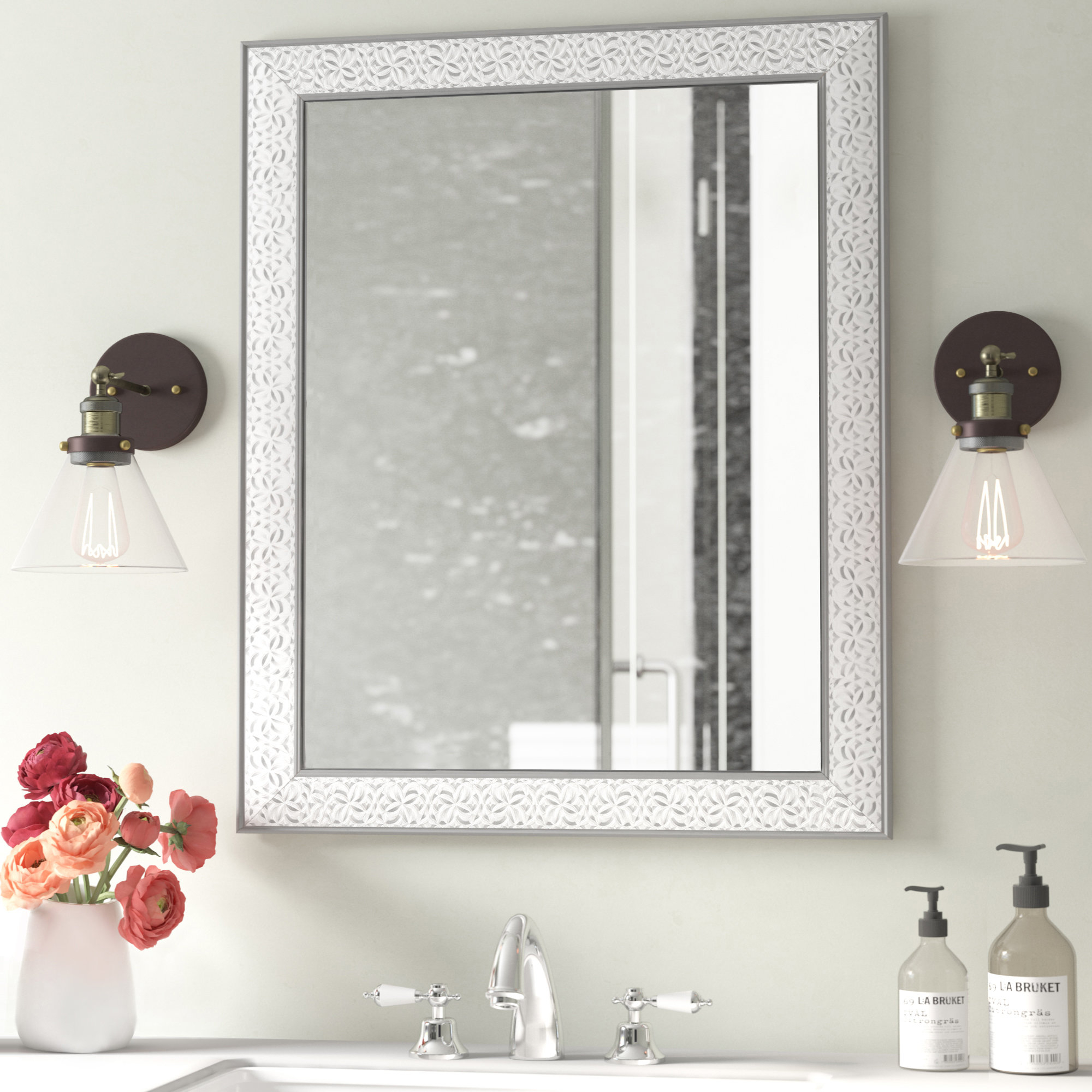 18X30 Mirror | Wayfair Intended For Hilde Traditional Beveled Bathroom Mirrors (Image 1 of 20)