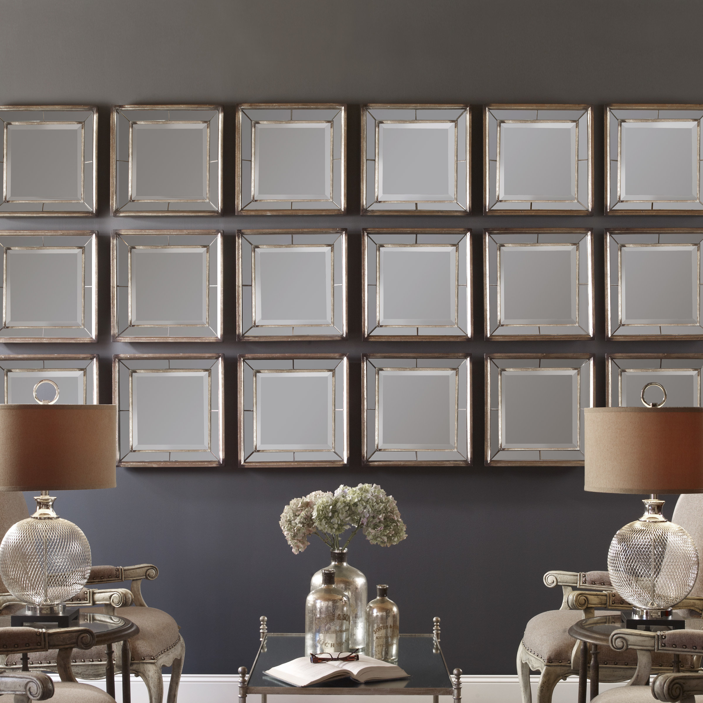 2 Piece Binion Traditional Mirror Set With Regard To 2 Piece Priscilla Square Traditional Beveled Distressed Accent Mirror Sets (View 5 of 20)