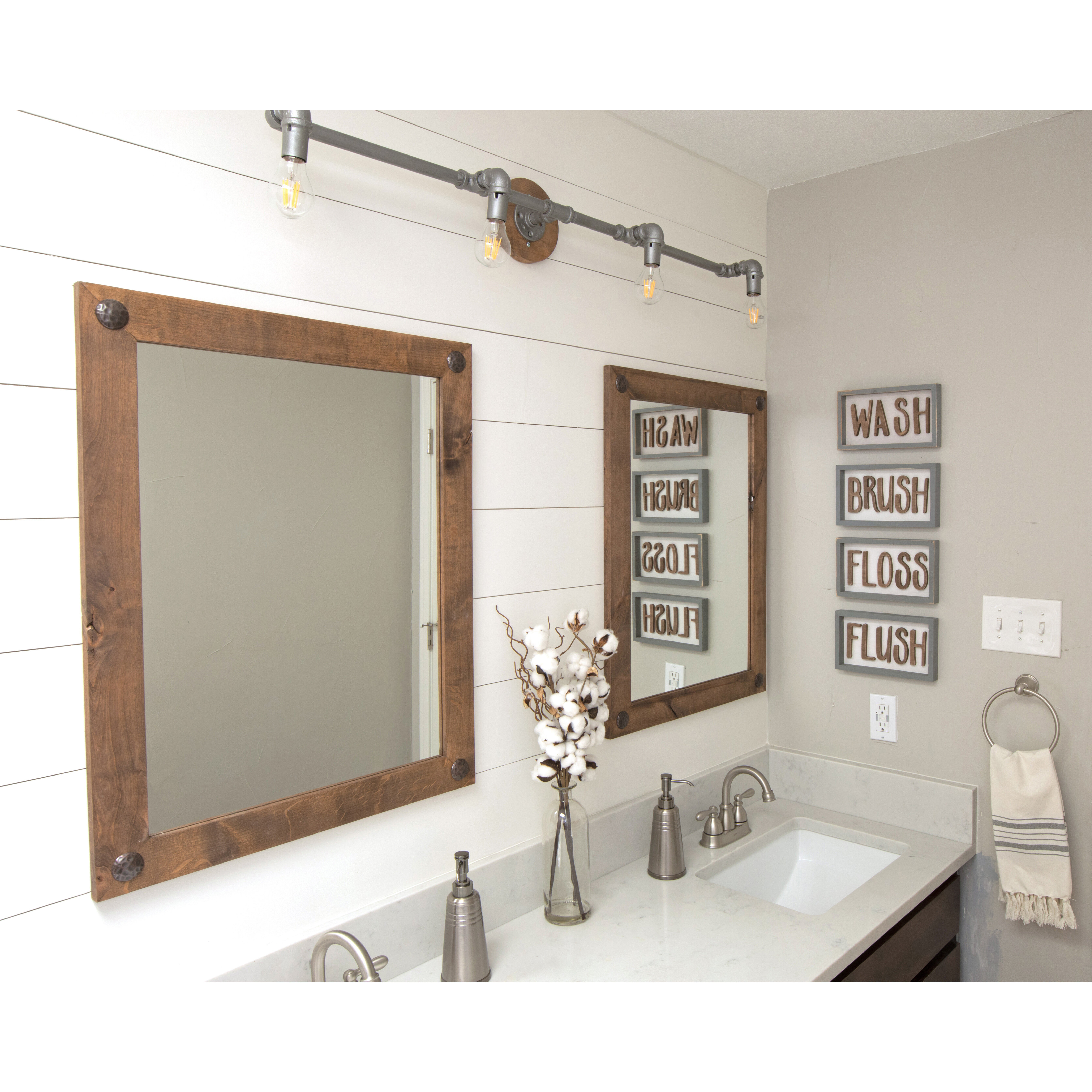 2 Piece Mirror Set | Wayfair In 2 Piece Priscilla Square Traditional Beveled Distressed Accent Mirror Sets (Image 3 of 20)