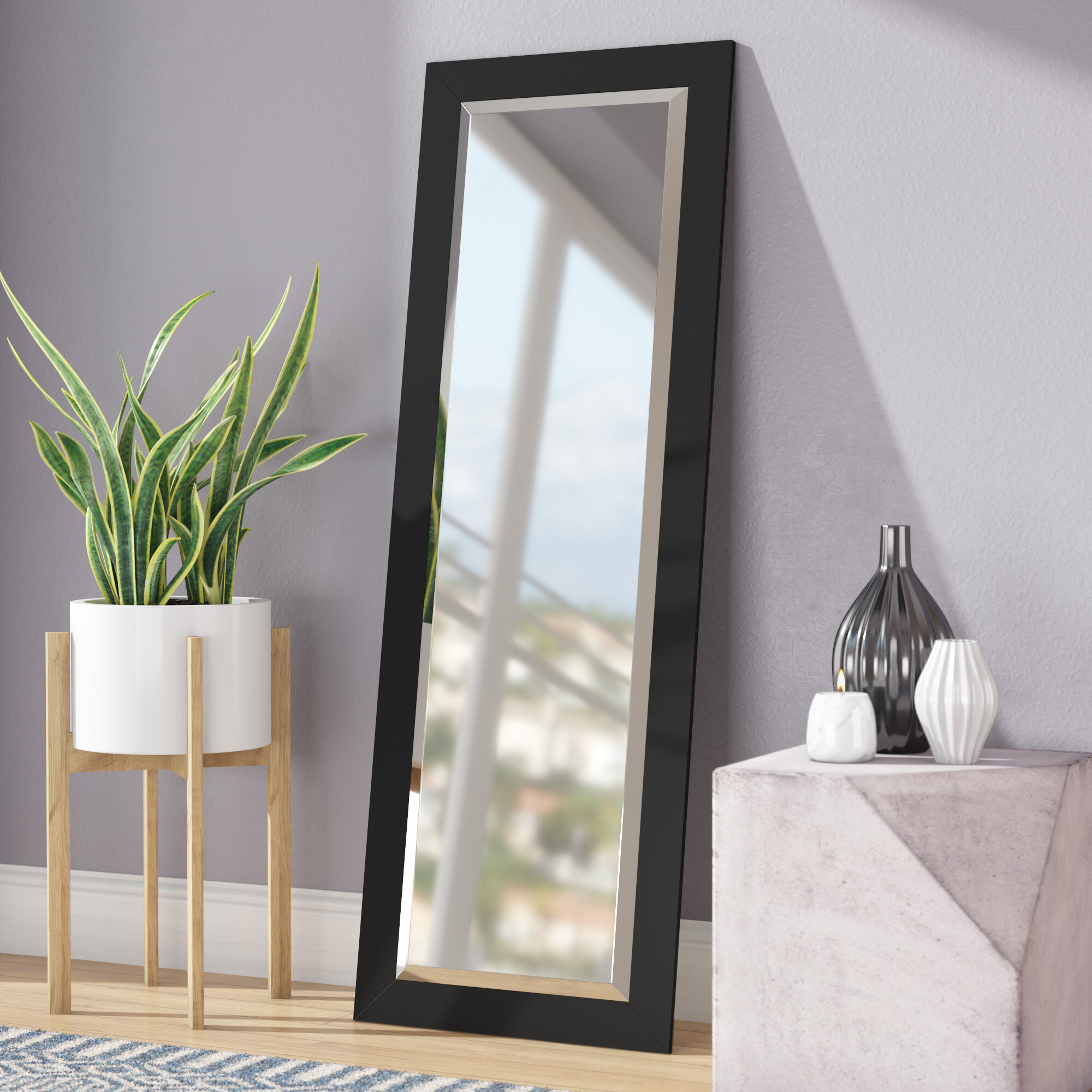 24 Inch Beveled Mirror | Wayfair Pertaining To Modern & Contemporary Beveled Overmantel Mirrors (View 12 of 20)