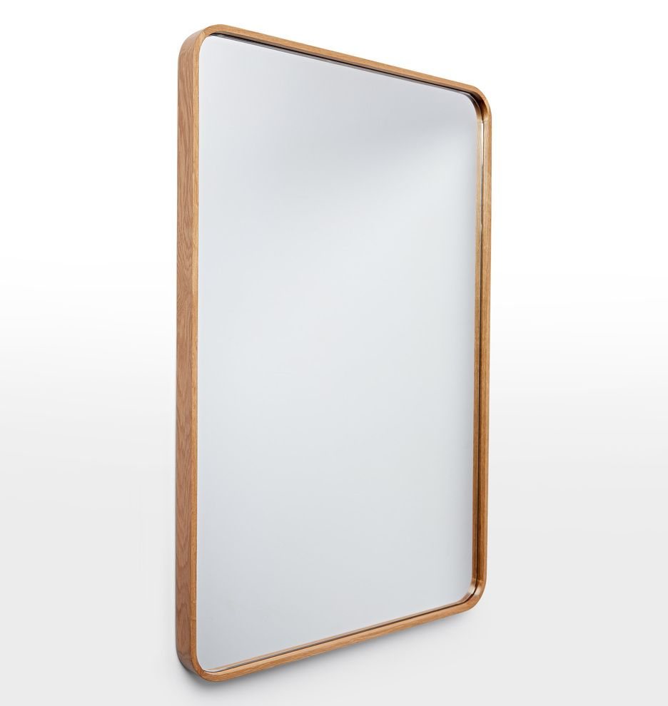 """24"""" X 36"""" Solid Walnut Rounded Rectangle Mirror 