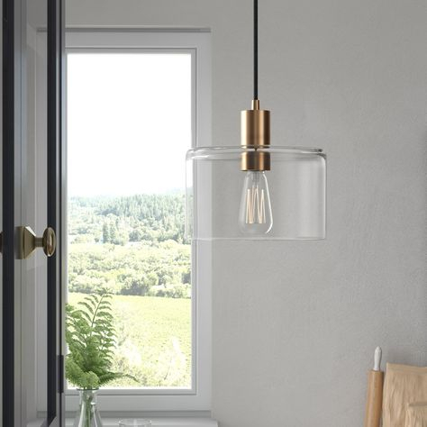 3 Light Lantern Cylinder Pendant | Joss & Main Intended For Chauvin 3 Light Lantern Geometric Pendants (Photo 21 of 25)
