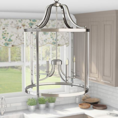 3 Light Lantern Cylinder Pendant | Joss & Main With Regard To Tessie 3 Light Lantern Cylinder Pendants (View 19 of 20)