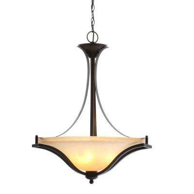 3 Light Rustic Iron Pendant With Antique Ivory Glass Shade Throughout Newent 3 Light Single Bowl Pendants (Photo 11 of 25)