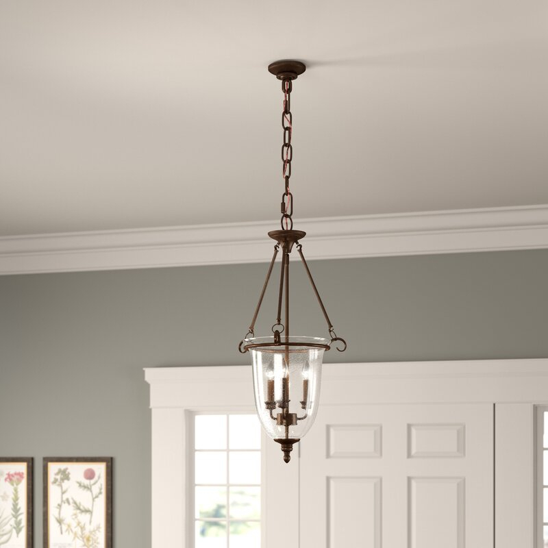 3 Light Single Urn Pendant For 3 Light Single Urn Pendants (Image 2 of 25)