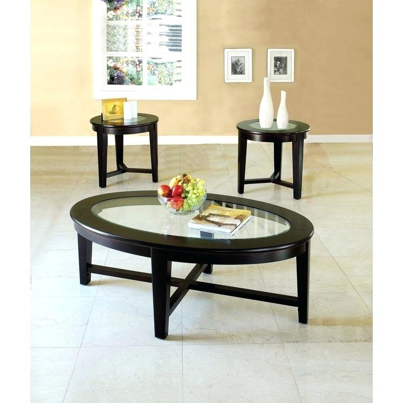 3 Piece Glass Coffee Table Set Red Barrel Studio Within Coaster Company Silver Glass Coffee Tables (Image 1 of 25)