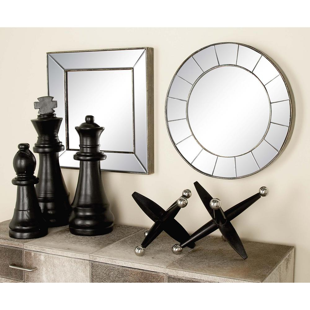 3 Piece New Traditional Frameless Illusion Wall Mirror Set For Traditional Frameless Diamond Wall Mirrors (Image 1 of 20)