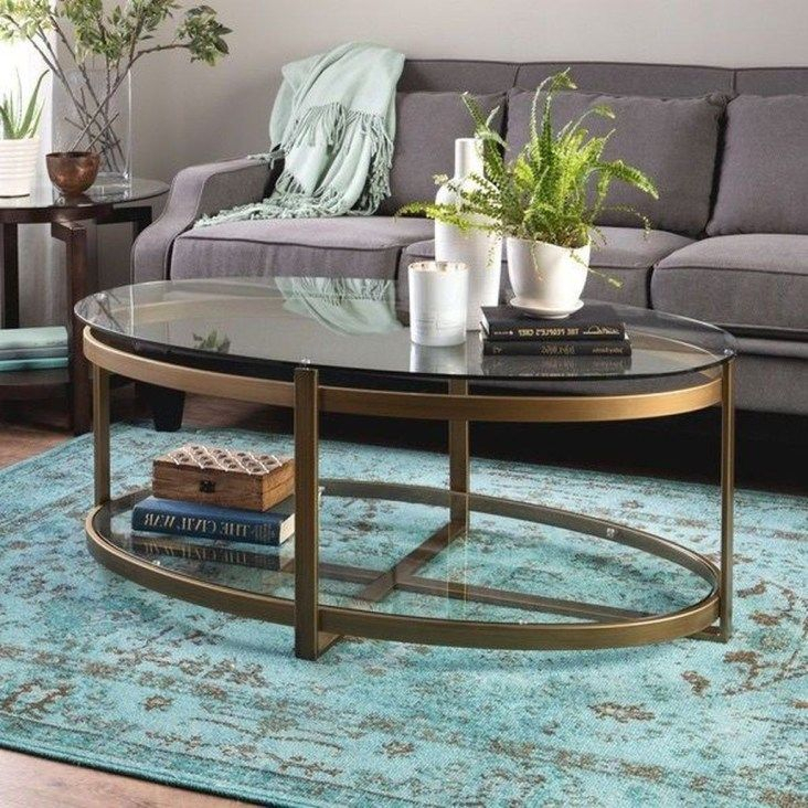 30+ Amazing Glass Coffee Tables Ideas With Regard To Carbon Loft Heimlich Pewter Steel/glass Round Coffee Tables (View 19 of 25)